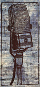 Lino Metal Prints - RCA 44 on Music Metal Print by William Cauthern