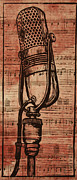 Lino Metal Prints - RCA 77 on Music Metal Print by William Cauthern
