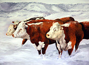 Snowstorm Prints Posters - Ready For Hay Poster by Sandy Campion