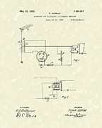 Wireless Posters - Receiver 1923 Patent Art Poster by Prior Art Design