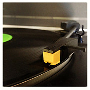 Dated Photo Prints - Record player Print by Les Cunliffe
