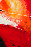 Cadmium Red Posters - Red Abstract No. 5 Poster by Palatia Photo