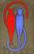 Paul Daly - Red and blue cats