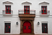 Colonial Building Framed Prints - Red and White Colonial Building Framed Print by Jess Kraft