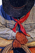 Western Art Photos - Red Bandana by Robert Albrecht