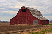 Arcitecture Framed Prints - Red barn Framed Print by Debbie Portwood