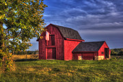 New Hampshire - Red Barn in Autumn by Joann Vitali