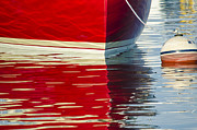 Vineyard Haven Prints - Red Boat Print by Steve Myrick