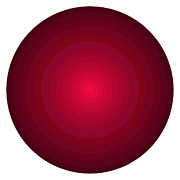 Gradient Prints - Red Circles Print by Frank Tschakert