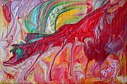 Dragon Painting Originals - Red Dragon by Donna Blackhall