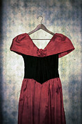 Coat Hanger Metal Prints - Red Dress Metal Print by Joana Kruse