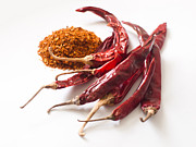 Red Dried Chilli Print by Pimonwan Niyomsub