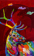 Yellowstone Painting Originals - Red Elk by Tracy Miller