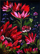 Red Flowers Print by Shirwan Ahmed