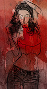 Kiss Paintings - Red is the color of Love by Stefan Kuhn