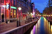 Sights Art - Red Light District in Amsterdam by Artur Bogacki