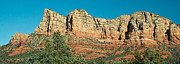 Oak Creek Prints - Red Rock Formation Near Sedona Arizona Print by Douglas Barnett