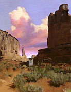 Canyons Paintings - Red Rocks by Snake Jagger