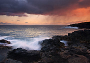 Kauai Photos - Red Storm Rising by Mike  Dawson