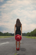 Slim Prints - Red Sun Hat Print by Joana Kruse