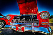 Bama Photos - Red Vintage Chevy Bel Air by Danny Hooks