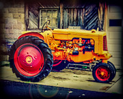 Farm Equipment Digital Art - Red Wheels by Perry Webster