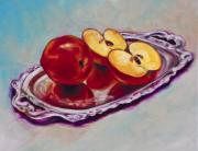 Tray Paintings - Reflecting Reds by Eve  Wheeler