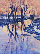 Oil Mixed Media Metal Prints - Reflection Metal Print by Stoiko Donev