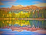 Building Reflections Prints - Reflections at Lake Louise Print by Tara Turner