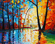 Foliage Paintings - Reflections by Graham Gercken