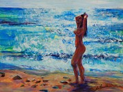 Nude Woman Water Posters - Reflections II Poster by Susi LaForsch