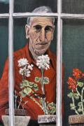 Elderly People Paintings - Reflections by Wanda Kightley