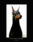 Doberman Art Posters - Regal Poster by Rita Kay Adams