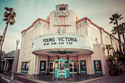 America Photography Framed Prints - Regency Lido Theater Newport Beach Picture Framed Print by Paul Velgos