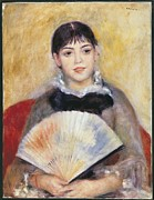 Youthful Framed Prints - Renoir, Pierre-auguste 1841-1919. Girl Framed Print by Everett