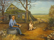 Carol Bitz - Retired man and his dog
