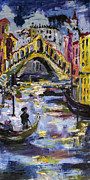 Ancient Cities Framed Prints - Rialto Bridge Venice Italy Framed Print by Ginette Callaway