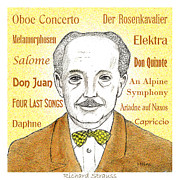 Richard Drawings Posters - Richard Strauss Poster by Paul Helm