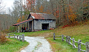 Richland Creek Photos - Richland Creek Farm Barn by Duane McCullough