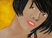 Rihanna Paintings - Rihanna  by Kristen Diefenbach