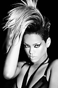 Pop Music Framed Prints - Rihanna Framed Print by Sanely Great