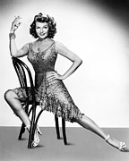 Rita Prints - Rita Hayworth Print by Silver Screen