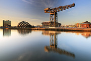 Scotland Images Framed Prints - River Clyde Reflections Framed Print by Grant Glendinning
