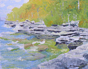 Park Scene Paintings - Robert G Wehle State Park by Robert P Hedden