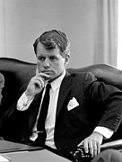 Rfk Photos - Robert Kennedy  by War Is Hell Store