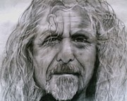 Robert Plant Drawings - Robert Plant by Paula Soesbe