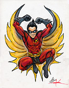 Marker Art - Robin by John Ashton Golden
