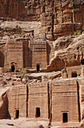 Tombs Prints - Rock cut tombs on the Street of Facades Petra Jordan Print by Robert Preston