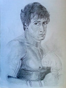 Hall Of Fame Drawings Framed Prints - Rocky Balboa Framed Print by Mayur Sharma