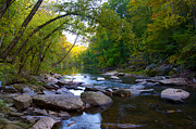 Fairmount Park Prints - Rocky Wissahickon Creek Print by Bill Cannon
